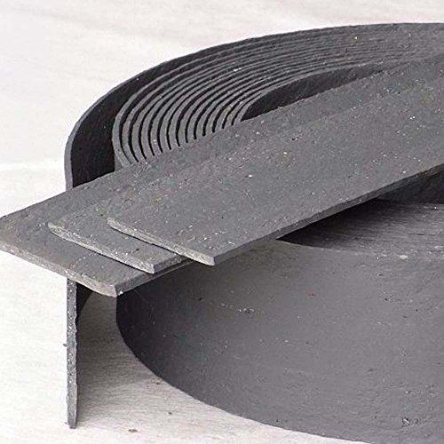 ECOLAT Rasenkante Rasenband Beeteinfassung Beetumrandung 14 x 0,7 cm 25m grau