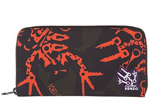 Kenzo portafoglio portamonete donna bifold originale rosso