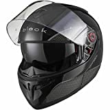 Black Optimus SV Motorrad Roller Klapphelm M Gloss Black - 2