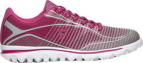 Propet Billie Femmes Large Synthétique Chaussure de Course Pink-Grey