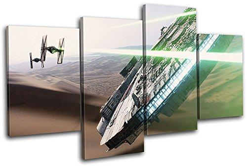 Bold Bloc Design - Star Wars Millenium Falcon Movie Greats 160x90cm MULTI Leinwand Kunstdruck Box gerahmte Bild Wand hangen - handgefertigt In Grossbritannien - gerahmt und bereit zum Aufhangen - Canvas Art Print - Art Canvas Print