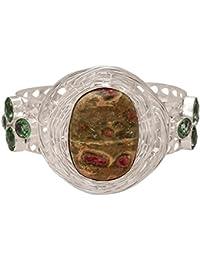 Silver Gems Jewellery Silver Color Cuff For Men