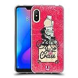 Head Case Designs Beach Cruiser Fahrrad Liebe Soft Gel Hülle für Xiaomi Mi A2 Lite/Redmi 6 Pro