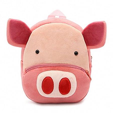 GWELL Süß Tier Babyrucksack Plüsch Kindergartenrucksack Backpack Schultasche Mädchen Jungen Reisetasche Huhn