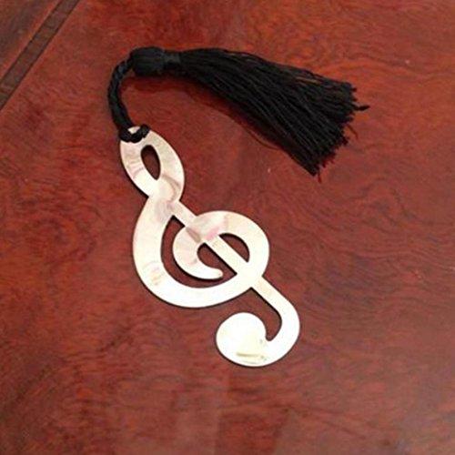 Novità Musical note nappa segnalibro in acciaio INOX cancelleria di regalo