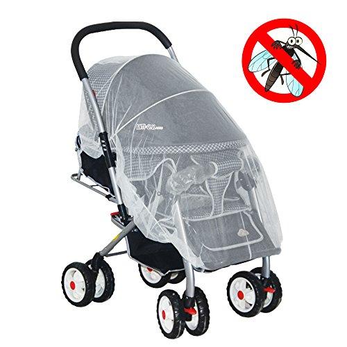Premium Baby Moskitonetz für Kinderwagen, auch passend für die meisten Infant Tragetaschen, Autositze und Wiegen, weiche strapazierfähige Insektenschutz Netz, Babys Fliegengitter Schutz, Weiß jogg