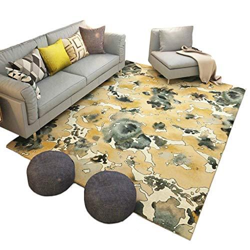 Schlafzimmer-zeitgenössische-sofa (Teppich, flauschiger Teppich, Home Designer Teppich Zeitgenössische Multifunktionale Wohnzimmer sofa Schlafzimmer Teppich Nordischen Stil Qualität Modernes Quadratisches Design Handgeschnitzte Weiche)