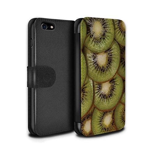 Stuff4 Coque/Etui/Housse Cuir PU Case/Cover pour Apple iPhone 7 / Citron Design / Fruits Juteux Collection Kiwi