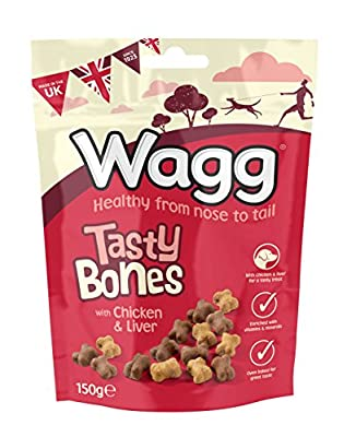 Wagg Tasty Bones Dog Treats with Chicken and Liver, 150g