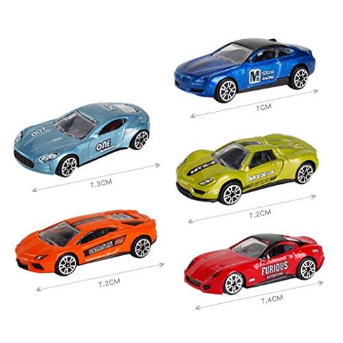 5 STÜCKE / 1 Satz Kinder Legierung Auto Engineering Modell Spielzeug Metall Lernspielzeug für Alter über 3 Jahre Jungen und Mädchen (C)