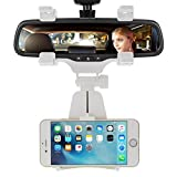 #3: Evana Car Phone Holder Stand Rear View Mirror Holder 360 Degree for iPhone Samsung Lennovo Smart Phone GPS Universal Support (Multicolour)