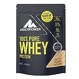 Multipower 100% Pure Whey Protein – wasserlösliches Proteinpulver mit Salty Peanut Caramel Geschmack –  Eiweißpulver mit Whey Isolate als Hauptquelle – Vitamin B6 und hohem BCAA-Anteil – 450 kg