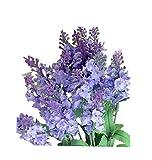 ZEZKT-Home Bouquet Künstlicher Lavendel Bouquet Kunstblumen Deko Hochzeit Lila Blumenstrauß Simulation Blumen für Haus Garten Blumengestecke Lavendel Künstliche Blumen (Violett)