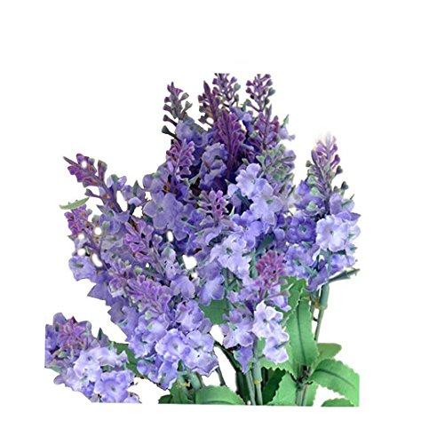 ZEZKT-Home Bouquet Künstlicher Lavendel Bouquet Kunstblumen Deko Hochzeit Lila Blumenstrauß Simulation Blumen für Haus Garten Blumengestecke Lavendel Künstliche Blumen (Violett) (Blumen Blumenstrauß Lila)