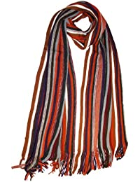 Unisex Mens Ladies Adult Multi Coloured Striped Knitted Warm Winter Scarf Roger