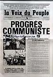 VOIX DU PEUPLE DE TOURAINE (LA) [No 2363] du 30/09/1988 - EN PAGES CENTRALES TOUS LES RESULTATS DU 25 SEPTEMBRE QUI MONTRENT UNE PROGRESSION DE 269 % DU PCF EN INDRE-ET-LOIRE - C'EST UN ENCOURAGEMENT A CONTINUER L'ACTION AVEC LES COMMUNISTES POUR LA JUSTICE LA LIBERTE LA PAIX - PROGRES COMMUNISTE - PCF - DECLARATION DU COMITE FEDERAL ET DES CANDIDATS...