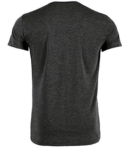 DATSCHI Trachten T-Shirt GRANTLER, Bio Baumwolle, Trachtenshirt Oktoberfest Bayrisch (XXL, Darkgrey-Blau) - 2