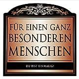 Udo Schmidt Aufkleber Flaschenetikett Etikett Für einen ganz besonderen Menschen