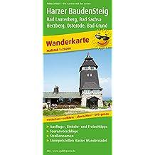Harzer BaudenSteig, Bad Lauterberg, Bad Sachsa, Herzberg, Osterode, Bad Grund: Wanderkarte mit Ausflugszielen, Einkehr- & Freizeittipps, Straßennamen, ... GPS-genau. 1:30000 (Wanderkarte / WK)