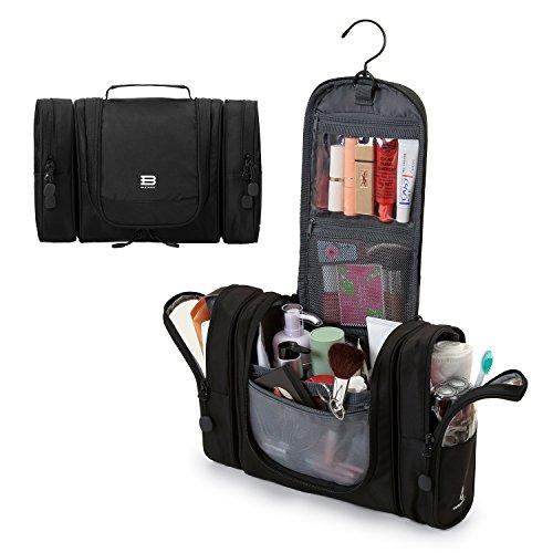 Bagsmart Waschtasche mit Abnehmbaren Seitentaschen Kulturtasche Business Reisen Urlaub Camping Schwarz 5L