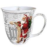 Ambiente Becher - Mug - Tasse - Tee / Kaffee Becher - Santa - Wish List - Weihnachten ca. 0.4L - Ideal Als Geschenk