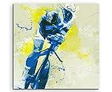 Radsport III 60x60cm SPORTBILDER Paul Sinus Art Splash Art Wandbild Aquarell Art