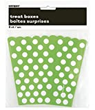 Lime Green Polka Dot Popcorn Treat Boxes, Pack of 8