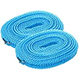 SYGA Set of 2 Clothes Lines Windproof Laundry Line for Outdoor Indoor Home Laundry Drying Rope(Random Color)