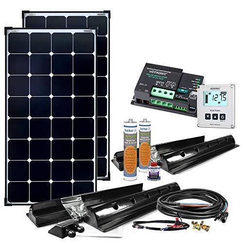 Offgridtec Wohnmobil Solaranlage SPR-200 220W 12V Solar Komplettsystem mit MPPT - DUAL Laderegler