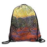 Wellay Turnbeutel mit Kordelzug, Olivenbäume, Malerei, Kordelzug, Einkaufen, Reisen, Rucksack für Studenten, Camping