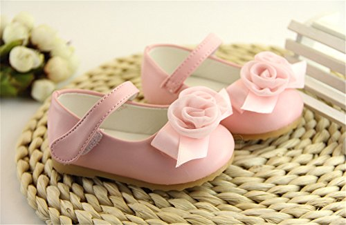 zhengjun  First Walking Shoes,  Baby, Jungen Baby Mädchen Unisex Babys Knöchel-Riemchen Rose