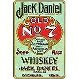 Whisky Vintage Shabby Chic Photo de style rétro Plaque en métal Poster Cadeau Bar Plaque rétro Design Décoration murale Beer