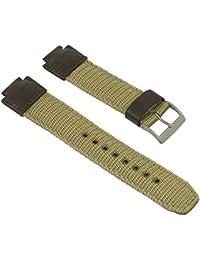 Uhrenarmband braun für Casio Collection AQ-180WB Textil/Leder Mix