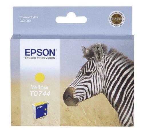 Epson T0744 Cartouche d'encre d'origine Jaune