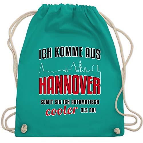 Städte - Ich komme aus Hannover - Unisize - Türkis - WM110 - Turnbeutel & Gym Bag - Stadt Rathaus