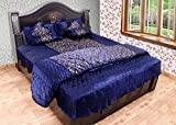Shopnetix Satin Gold printed Double Bed ...