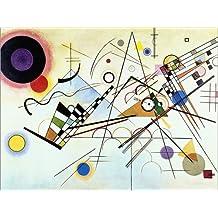 Cuadro sobre lienzo 80 x 60 cm: Composition no. 8 de Wassily Kandinsky - cuadro terminado, cuadro sobre bastidor, lámina terminada sobre lienzo auténtico, impresión en lienzo