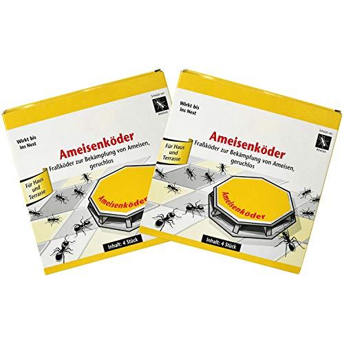 com-four® 8 latas de Cebo para Hormigas para el Control confiable de Hormigas (08 Piezas - cebos para Hormigas)