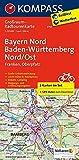 Bayern Nord, Baden-Württemberg Nord/Ost: Großraum-Radtourenkarte 1:125000, GPX-Daten zum Download (KOMPASS-Großraum-Radtourenkarte, Band 3710)