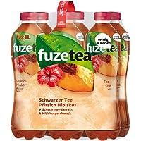 Fuze Tea Schwarzer Tee Pfirsich Hibiskus, (6 x 1,0 l) Einweg