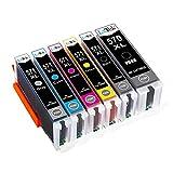 LxTek Kompatibel Ersatz für Canon 570XL 571XL PGI-570 XL CLI-571 XL Druckerpatronen für Canon PIXMA MG7700 MG7750 MG7751 MG7752 MG7753 TS8050 TS8051 TS8052 TS8053 TS9050 TS9055 (Grau einschließen)