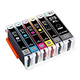 LxTek Kompatibel Ersatz für Canon PGI-570XL CLI-571XL Druckerpatronen für Canon PIXMA MG7700 MG7750 MG7751 MG7752 MG7753 TS8050 TS8051 TS8052 TS8053 TS9050 TS9055 (GY/PGBK/BK/C/M/Y)
