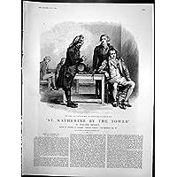 La St Katherine Antica della Stampa dall'Avvocato della Torre È Venuto Testa Annuita Col Capo Notizie 1891