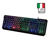 ⭐️KLIM Chroma Tastiera ITALIANA per Gaming USB - Alte Performance – Colori da...