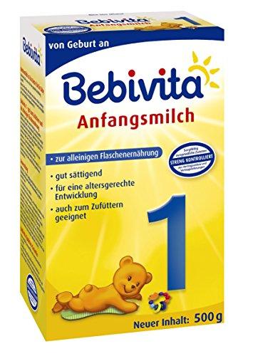 Bebivita 1 Anfangsmilch - von Geburt an, 4er Pack (4 x 500g)