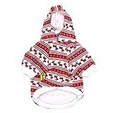 Amphia - Haustier Weihnachten verdicken Sweatshirt - Weihnachtshundehaustierkleidung Hoodie Warm verdicken Sweatshirts Welpen-Mantel-Kleid(Rot,L)
