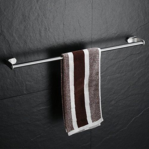XJ&DD Acero Inoxidable del Sus 304 Toallero de,Toallero baño,Barra Sola Acabado Cepillado No se oxida la suspensión de la Toalla-A 40cm(16inch)