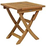 Bentley Gartentisch/Klapptisch - Bangkirai-Holz - Quadratisch & Zusammenklappbar