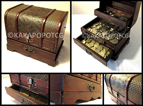 KakapopoTCG Wooden Chest with dr...