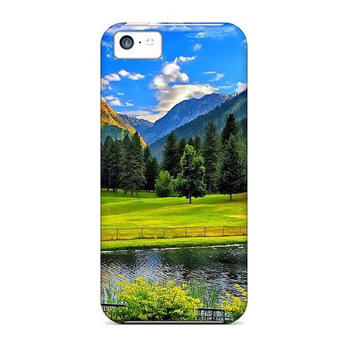 Purecase Case Cover For Iphone 5c - Retailer Packaging Lovely Mountain Place Protective Case